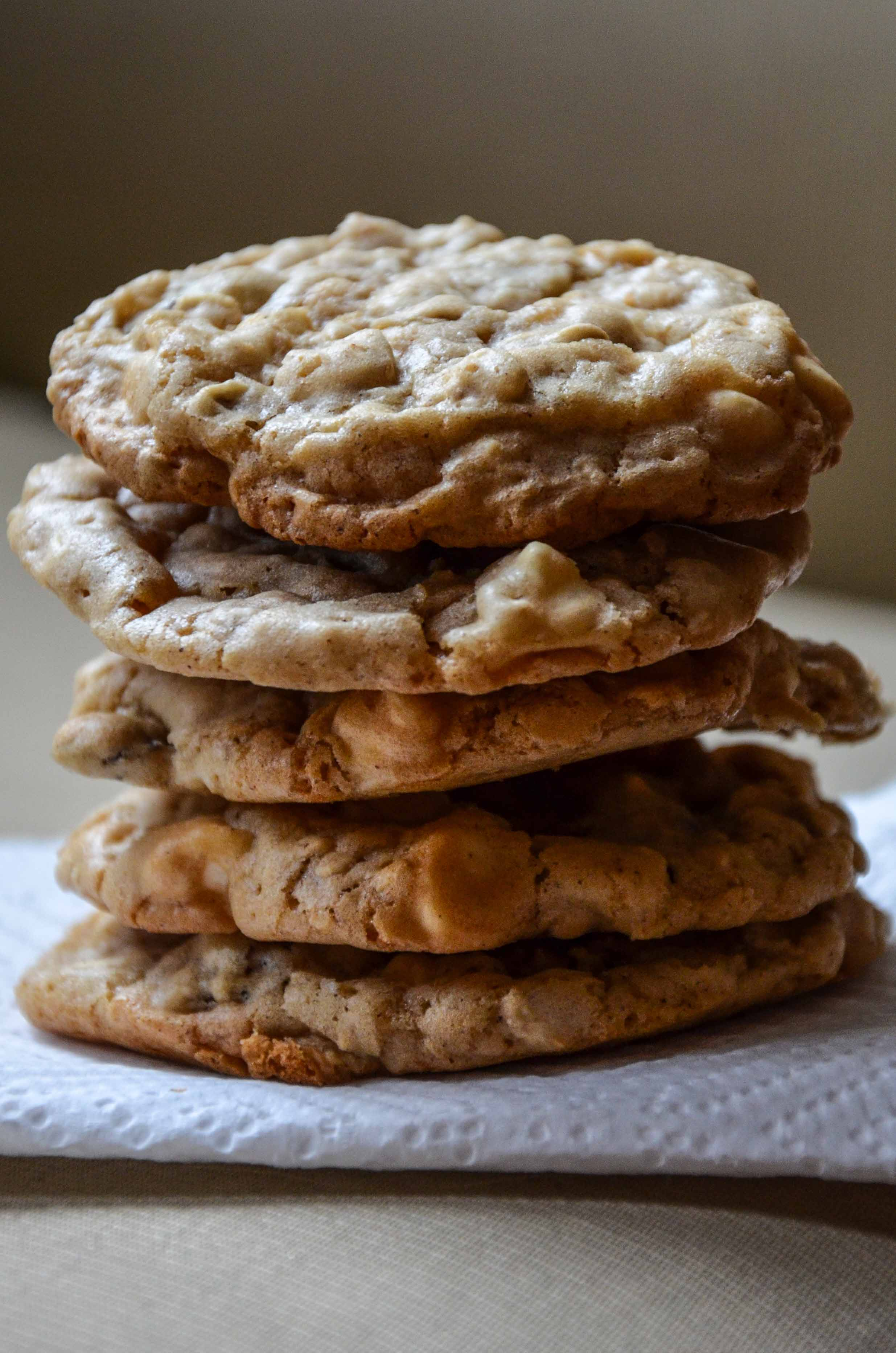 Maple, White Chocolate And Cherry Oatmeal Cookies Recipes — Dishmaps